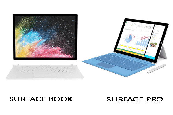 Surface Book và Surface Pro