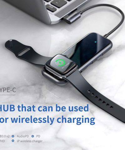 Hub chuyển đổi tích hợp sạc Apple Watch Baseus 6 in 1